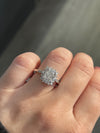 1.51 Radiant Cut Engagement Ring | Antique Style Halo - Happy Jewelers Fine Jewelry Lifetime Warranty