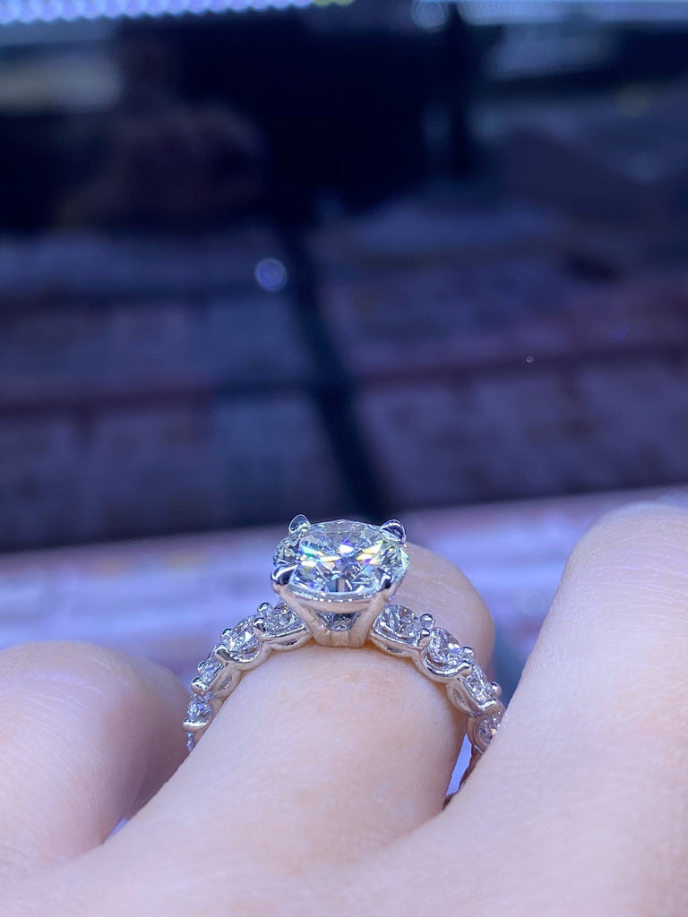 Engagement Ring Wednesday 2.29 Round Brilliant Diamond - Happy Jewelers Fine Jewelry Lifetime Warranty