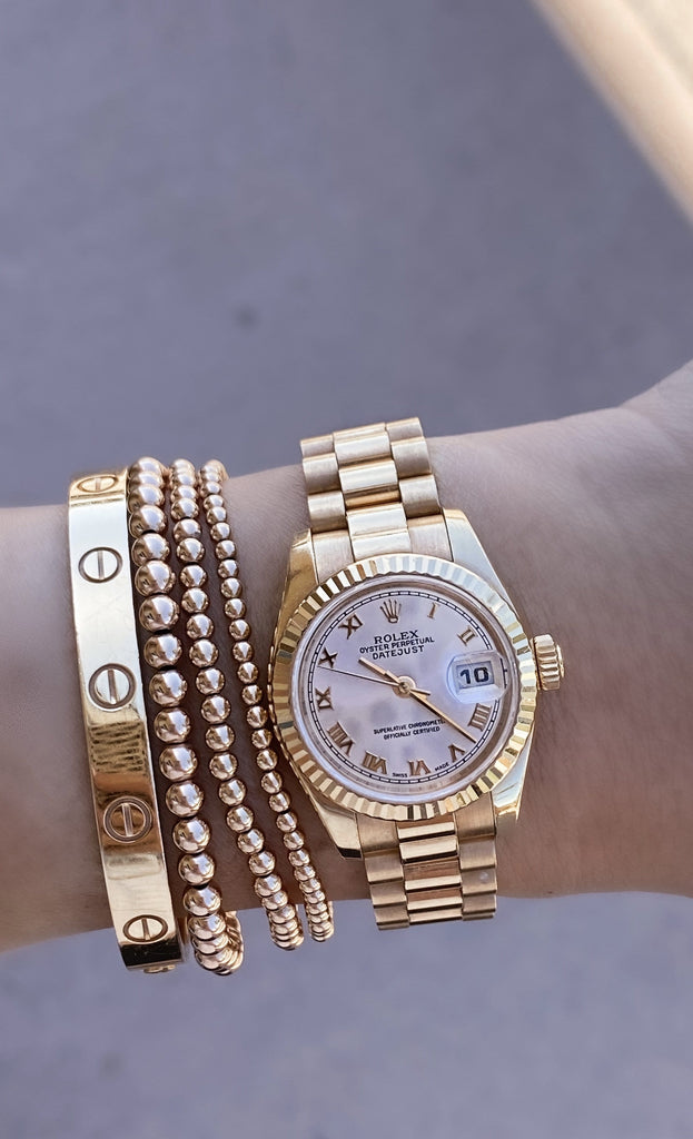 Rose Gold Rolex | 26mm | Pink Champagne Dial - Happy Jewelers Fine Jewelry Lifetime Warranty