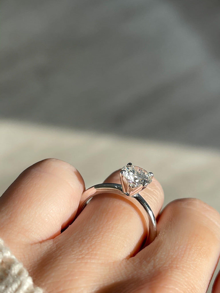 1.33 Round Brilliant Diamond | White Gold Solitaire Engagement Ring - Happy Jewelers Fine Jewelry Lifetime Warranty