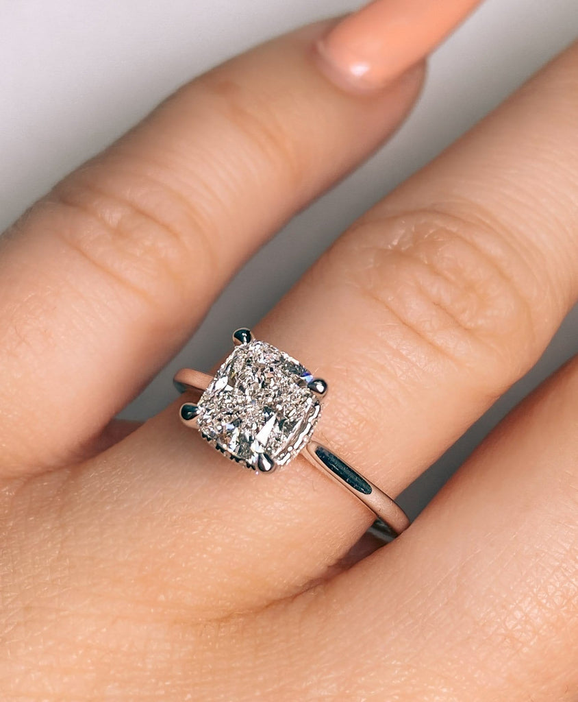 Engagement Ring | 1.51 Cushion Cut Diamond | D color SI1 clarity