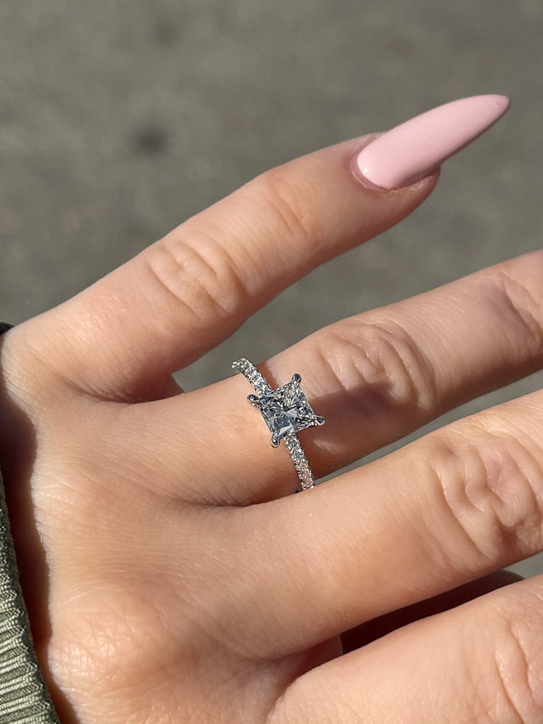 1.01 Princess Cut Engagement Ring | Diamond Solitaire - Happy Jewelers Fine Jewelry Lifetime Warranty