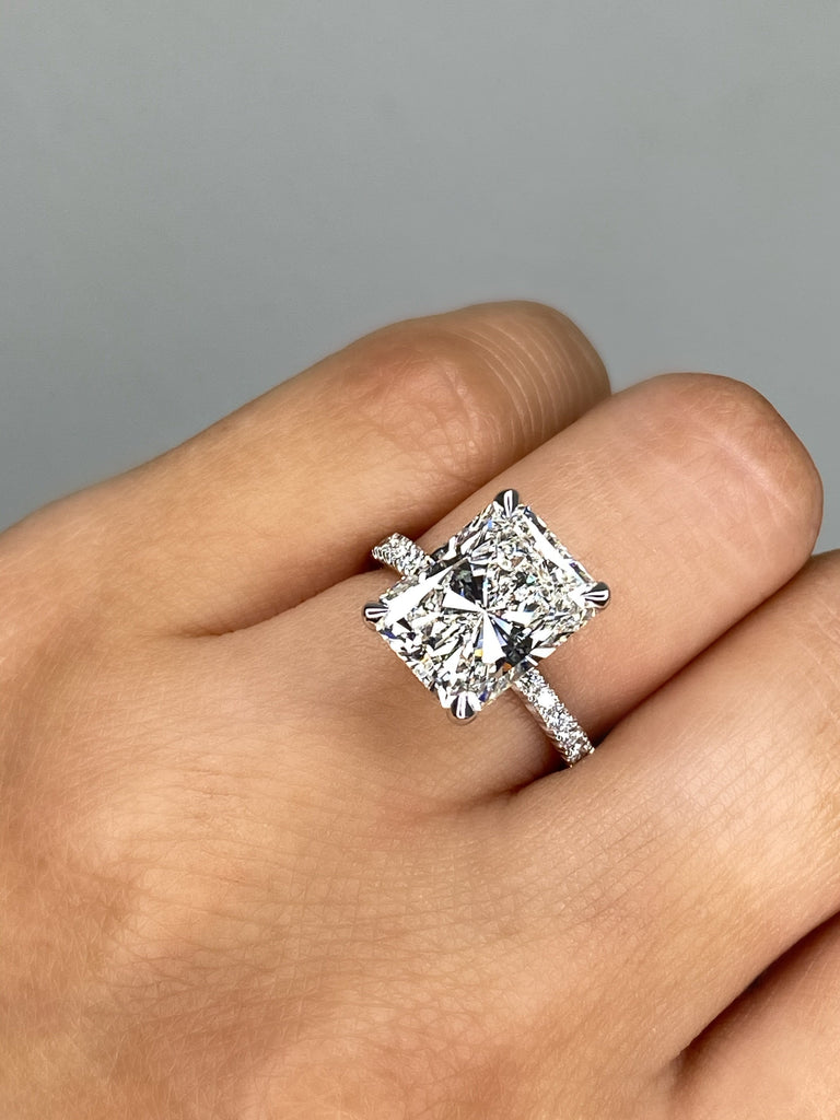 Engagement Ring Special 4.01 Radiant Cut Diamond - Happy Jewelers Fine Jewelry Lifetime Warranty