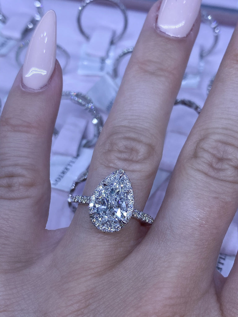 Engagement Ring Special 2.04 Carat Pear Diamond - Happy Jewelers Fine Jewelry Lifetime Warranty