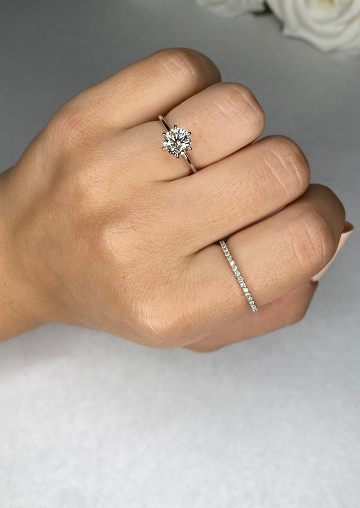 Engagement Ring 1.05 carat Round Diamond - Happy Jewelers Fine Jewelry Lifetime Warranty