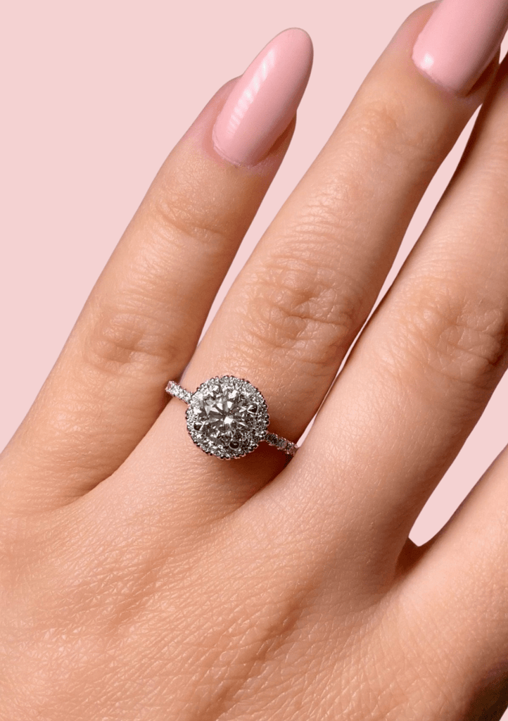 Engagement Ring  1.00 ROUND BRILLIANT DIAMOND - Happy Jewelers Fine Jewelry Lifetime Warranty