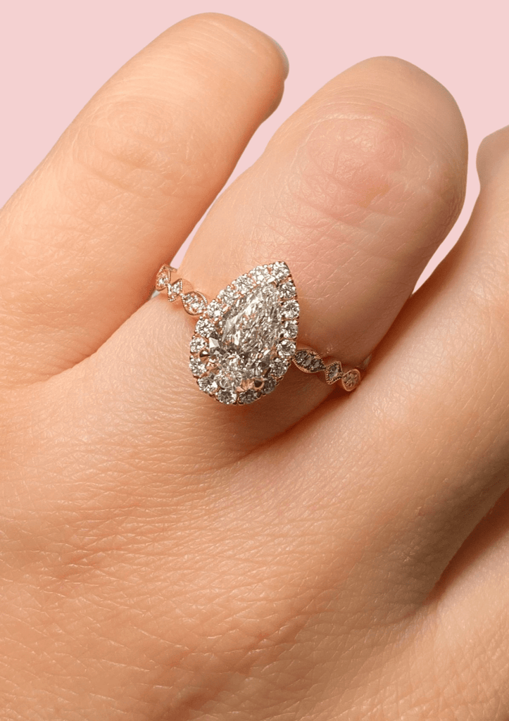 Engagement Ring 1.27 Pear Diamond Ring - Happy Jewelers Fine Jewelry Lifetime Warranty