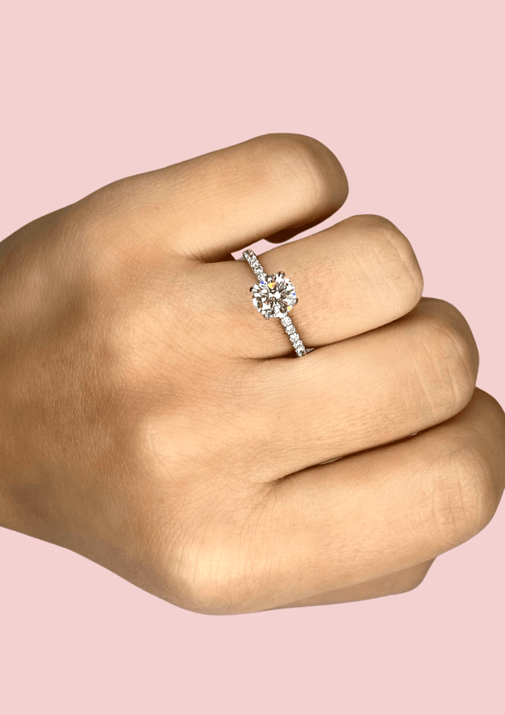 Engagement Ring Special 1.02 Round Brilliant - Happy Jewelers Fine Jewelry Lifetime Warranty