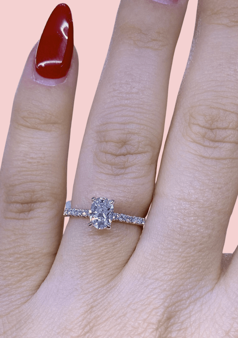 Engagement Ring Wednesday 0.71 carat Oval Diamond - Happy Jewelers Fine Jewelry Lifetime Warranty