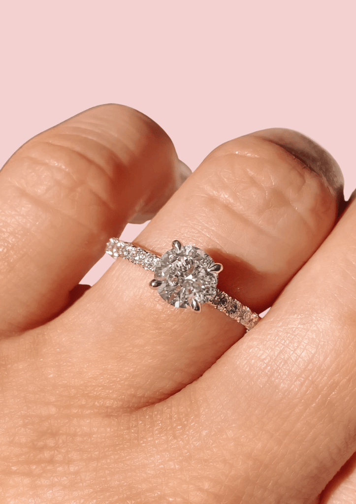 Engagement Ring Wednesday 0.91 Round Brilliant Diamond - Happy Jewelers Fine Jewelry Lifetime Warranty