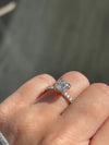 Engagement Ring Wednesday | 1.01 Cushion Cut Engagement Ring - Happy Jewelers Fine Jewelry Lifetime Warranty