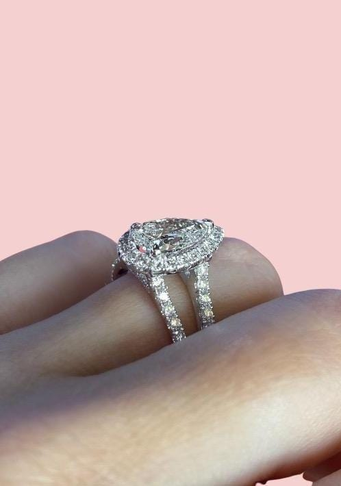Engagement Ring Special 1.55 Carat Pear Diamond - Happy Jewelers Fine Jewelry Lifetime Warranty
