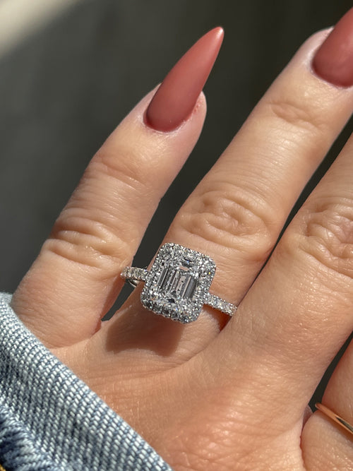 Engagement Ring Wednesday 1.58 Emerald Cut Diamond - Happy Jewelers Fine Jewelry Lifetime Warranty