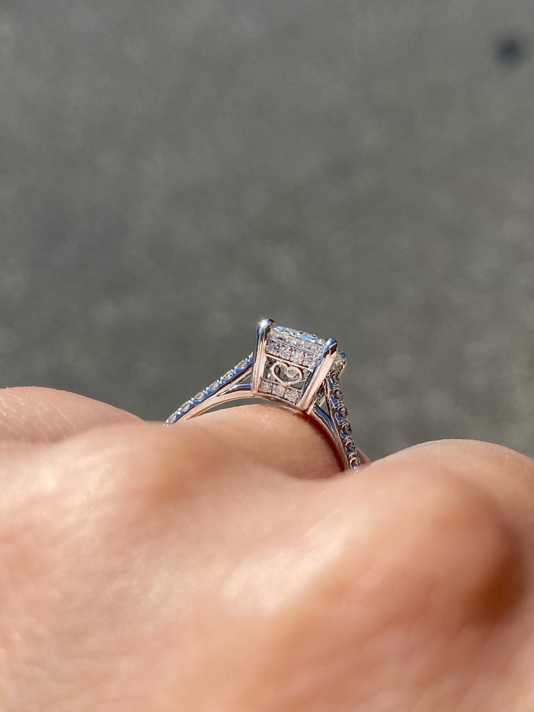 Engagement Ring Wednesday 1.80 Emerald Cut Diamond - Happy Jewelers Fine Jewelry Lifetime Warranty