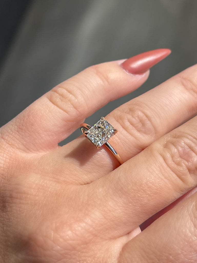 1.53 Radiant Cut Diamond | Engagement Ring Wednesday | Rose Gold