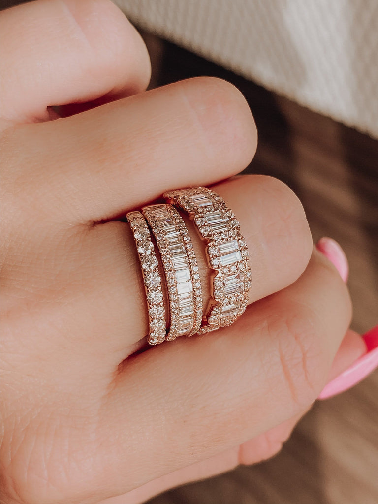 Baguette Diamond Band - Happy Jewelers