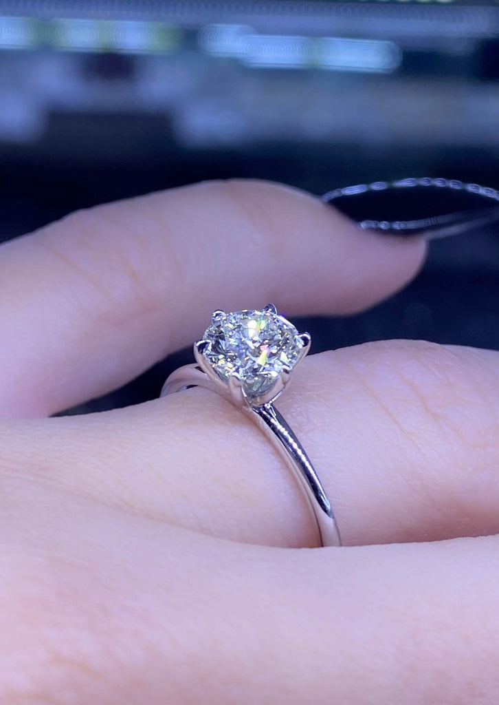 Engagement Ring Wednesday 1.01 carat Round Diamond - Happy Jewelers Fine Jewelry Lifetime Warranty