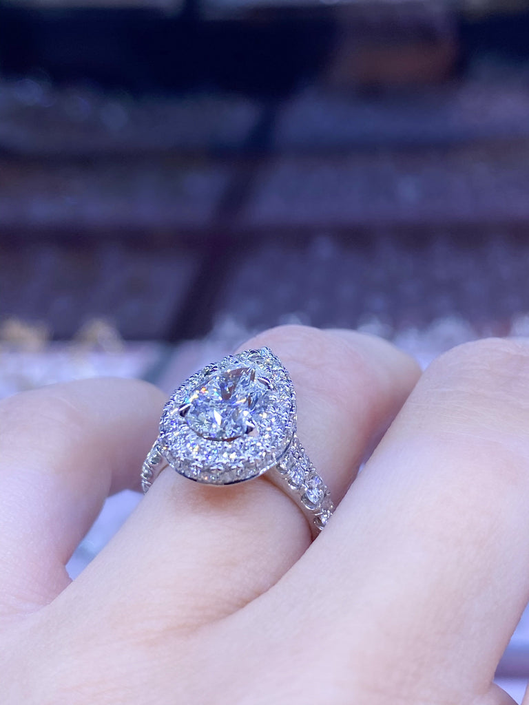 Engagement Ring 1.50 Pear Shape Diamond - Happy Jewelers Fine Jewelry Lifetime Warranty