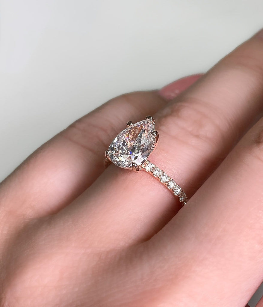 Engagement Ring 2.01 Pear Shape Diamond - Happy Jewelers Fine Jewelry Lifetime Warranty