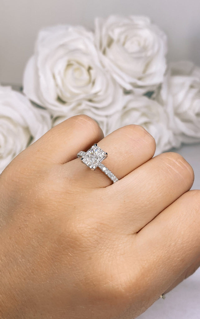 Engagement Ring Wednesday Special 1.70 Radiant Cut - Happy Jewelers Fine Jewelry Lifetime Warranty
