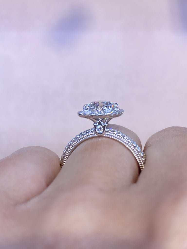 Engagement Ring 1.06 Round Brilliant Diamond - Happy Jewelers Fine Jewelry Lifetime Warranty