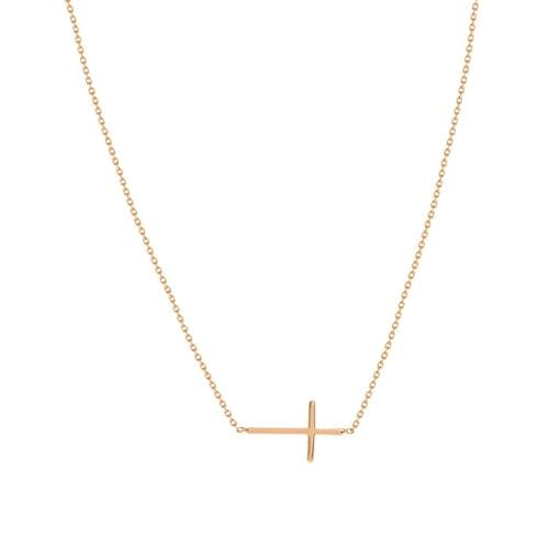 Sideways Cross Necklace - Happy Jewelers Fine Jewelry Lifetime Warranty