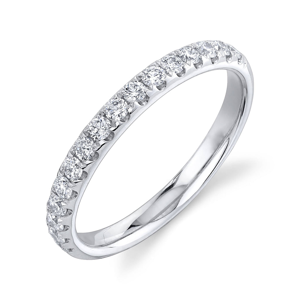 2.6mm Diamond Half-Way Band - Happy Jewelers Fine Jewelry Lifetime Warranty
