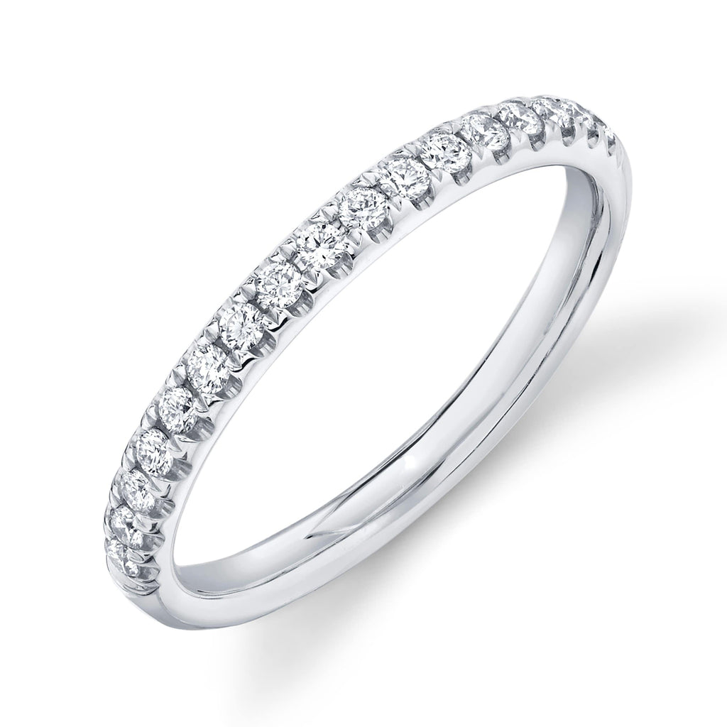 2.4mm Diamond Half-way Band - Happy Jewelers Fine Jewelry Lifetime Warranty