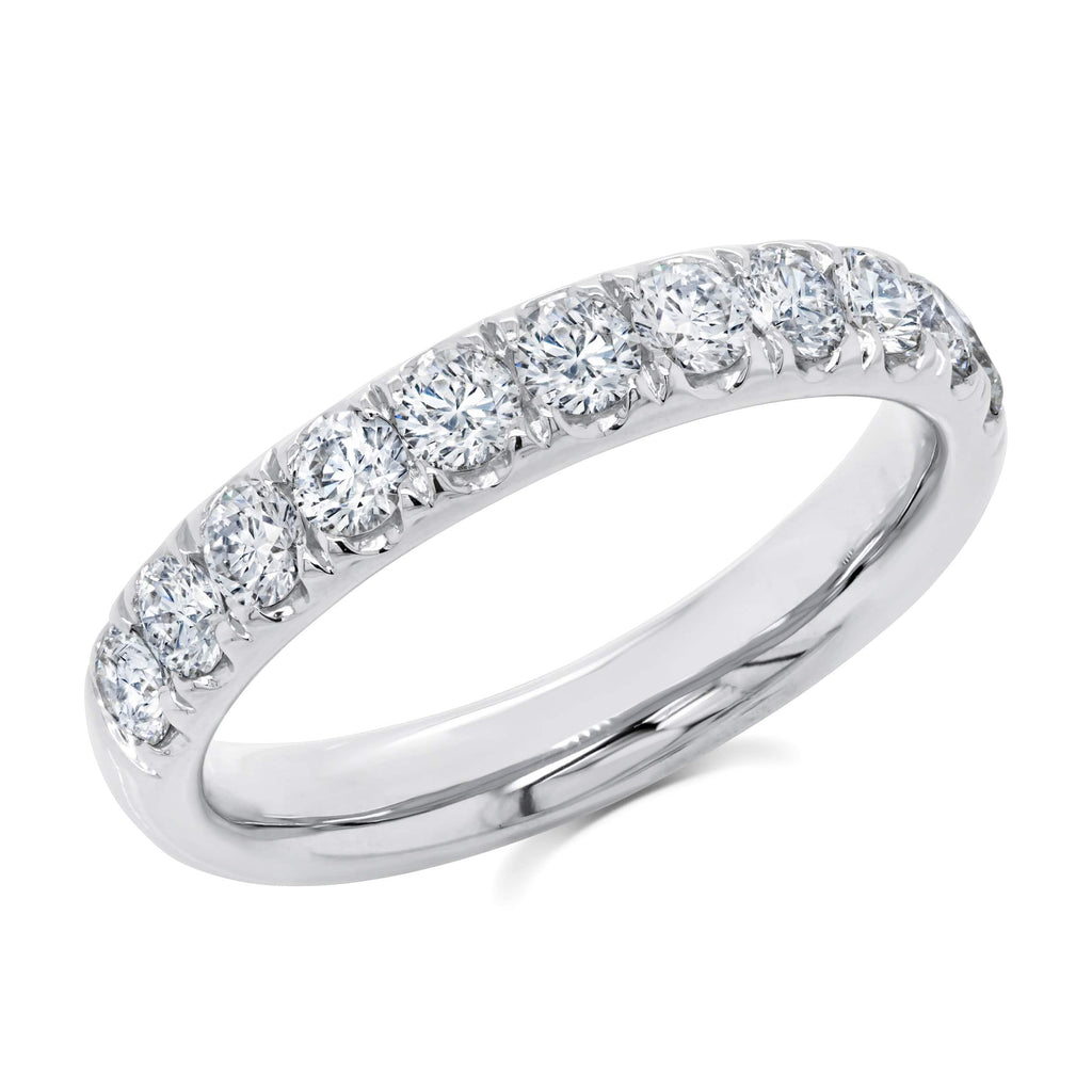3.0mm Diamond Half-Way Band - Happy Jewelers Fine Jewelry Lifetime Warranty