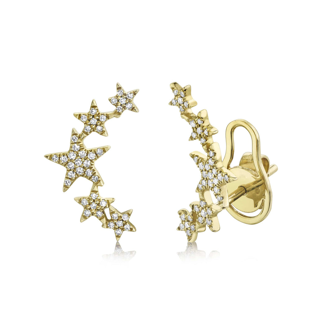 Star Climber Earrings - Happy Jewelers Fine Jewelry Lifetime Warranty