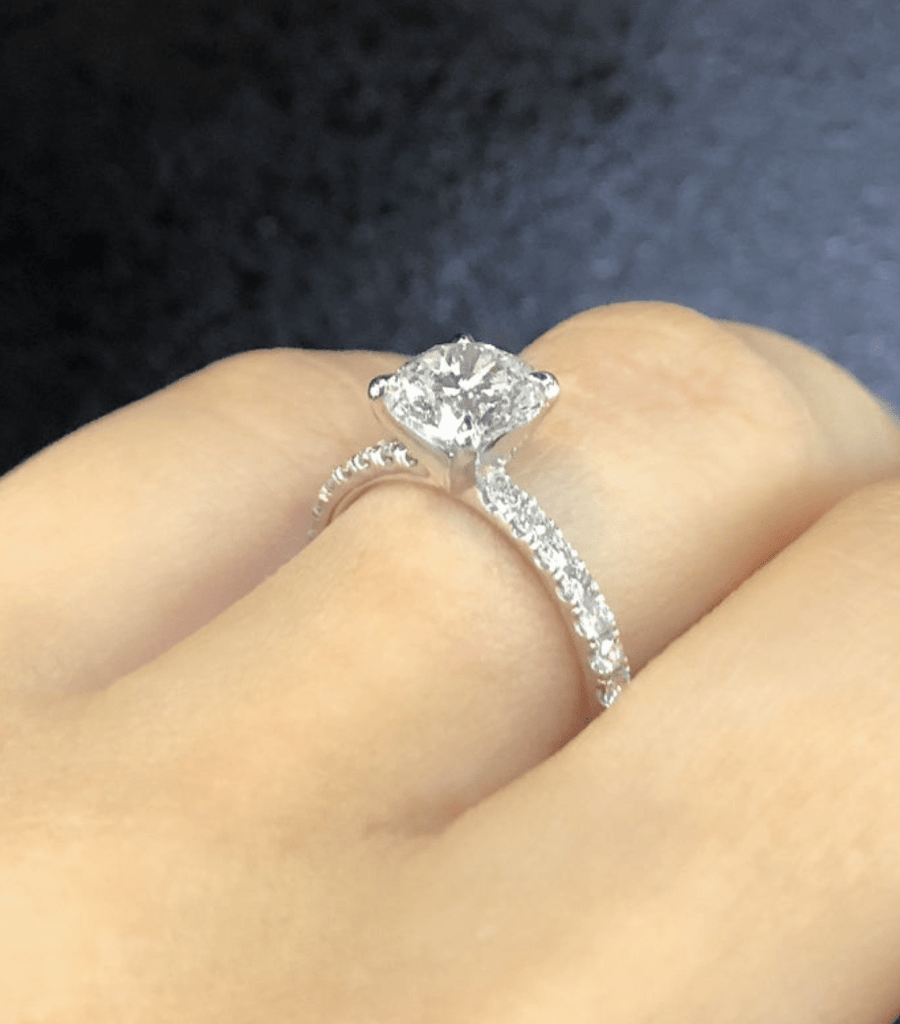 Engagement Ring 1.24 carat Round Diamond - Happy Jewelers Fine Jewelry Lifetime Warranty