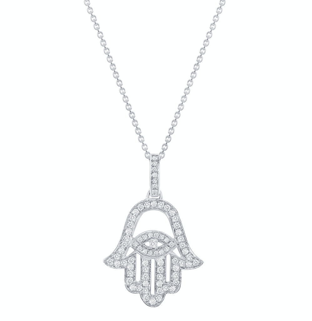 Large Hamsa Necklace - Happy Jewelers Fine Jewelry Lifetime Warranty