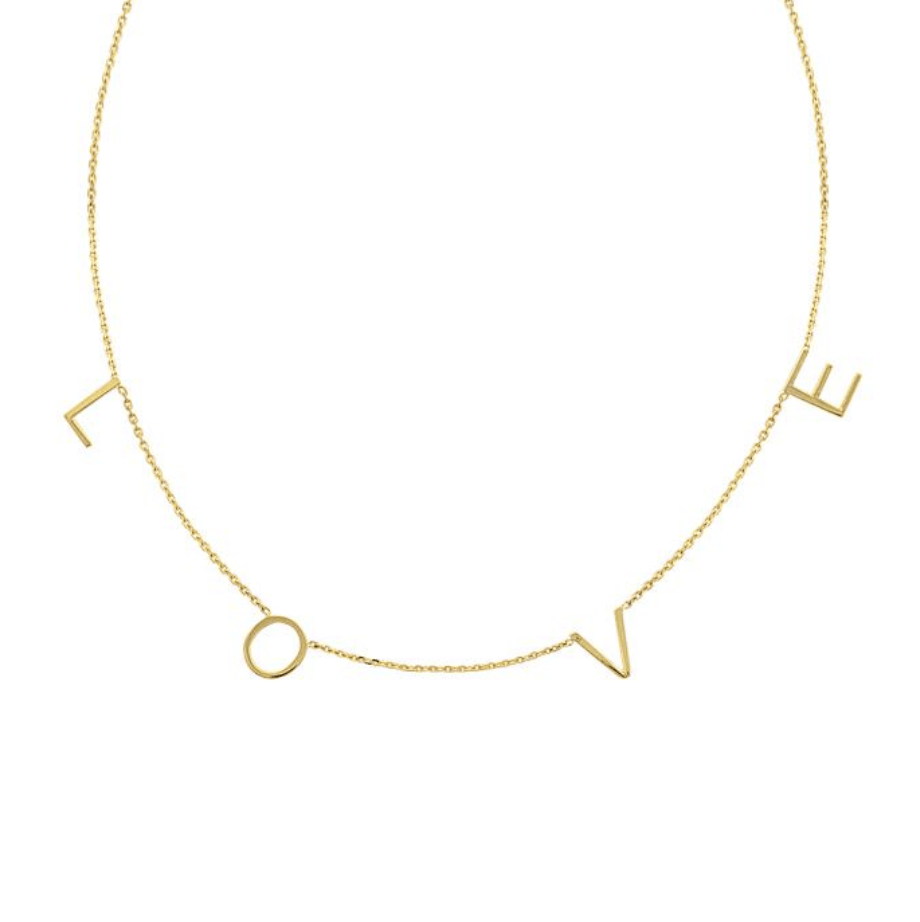 Spaced Name Necklace - Happy Jewelers