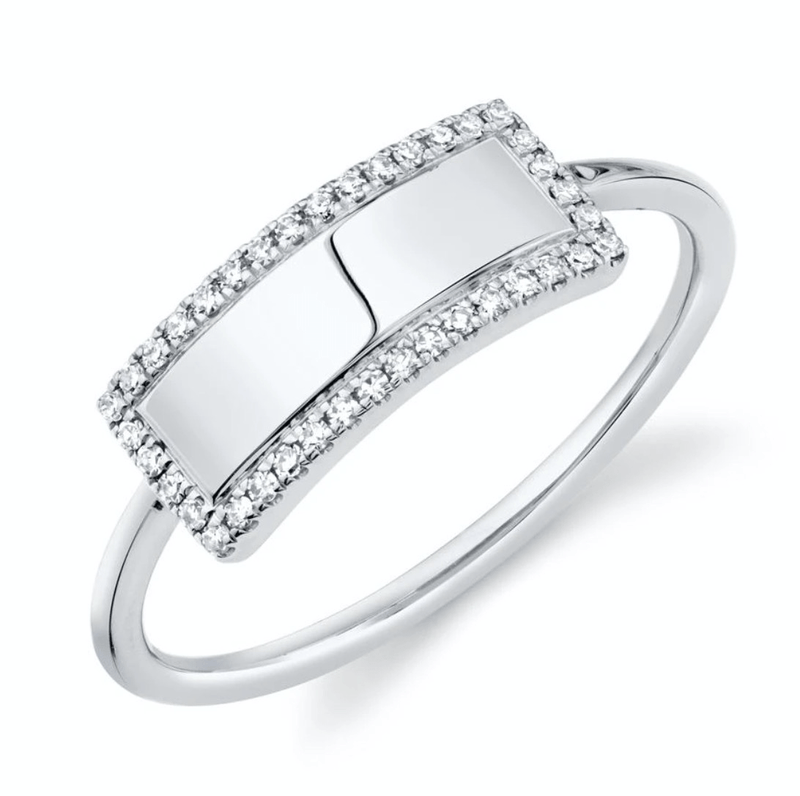 Diamond Personalized ID Ring - Happy Jewelers Fine Jewelry Lifetime Warranty