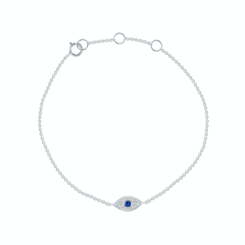 Dainty Evil Eye Bracelet - Happy Jewelers Fine Jewelry Lifetime Warranty
