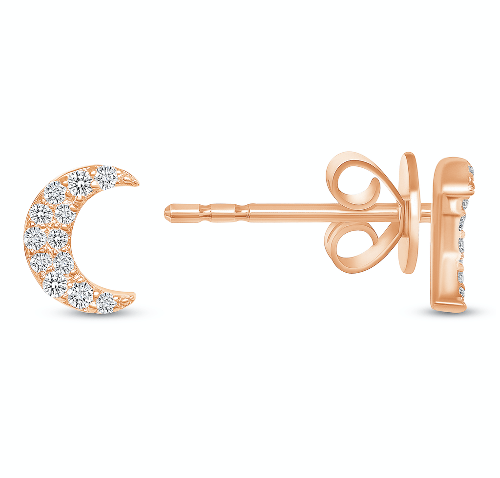 Crescent Moon Studs - Happy Jewelers Fine Jewelry Lifetime Warranty