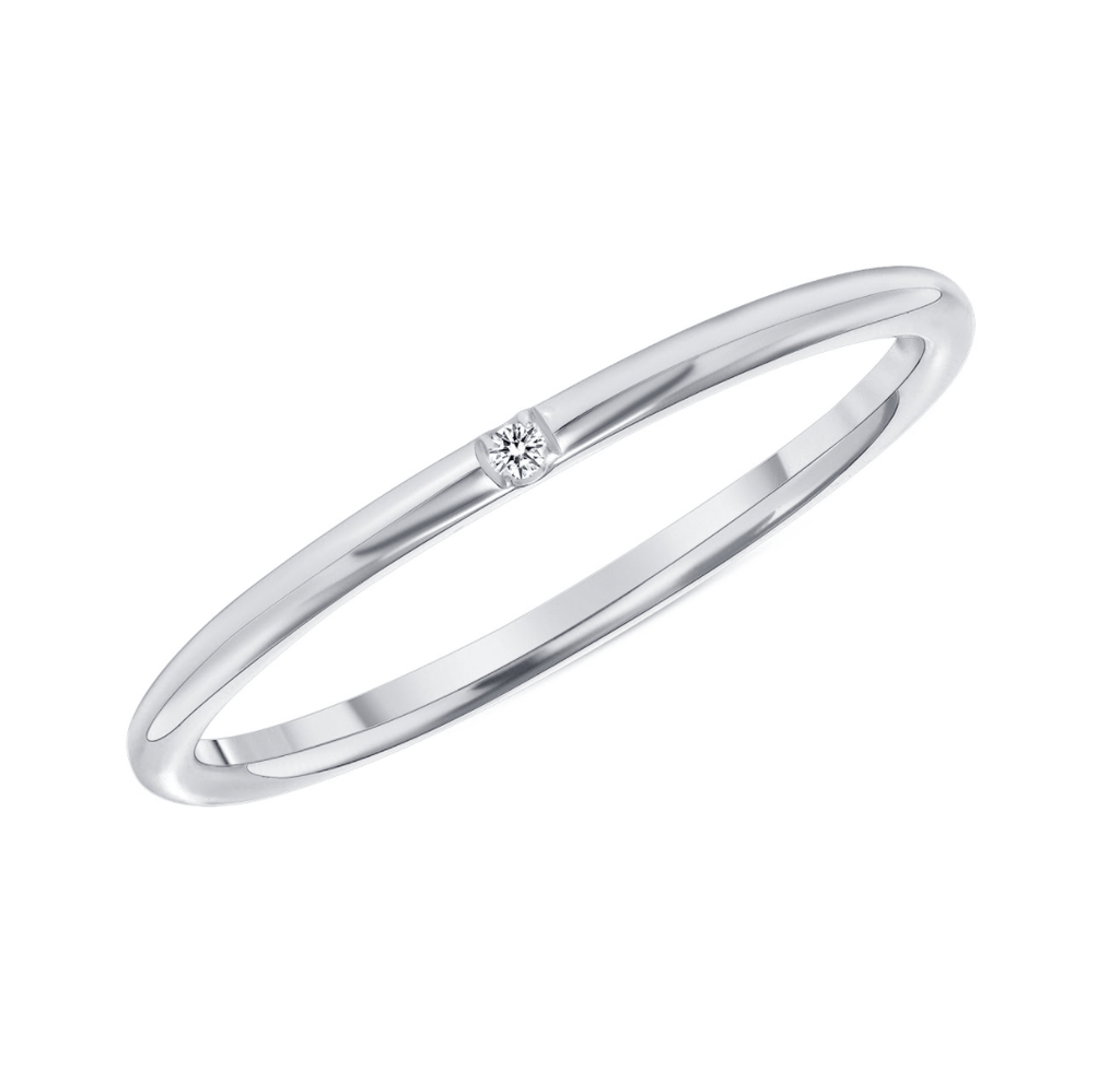 Astra Single Diamond Band - Happy Jewelers Fine Jewelry Lifetime Warranty