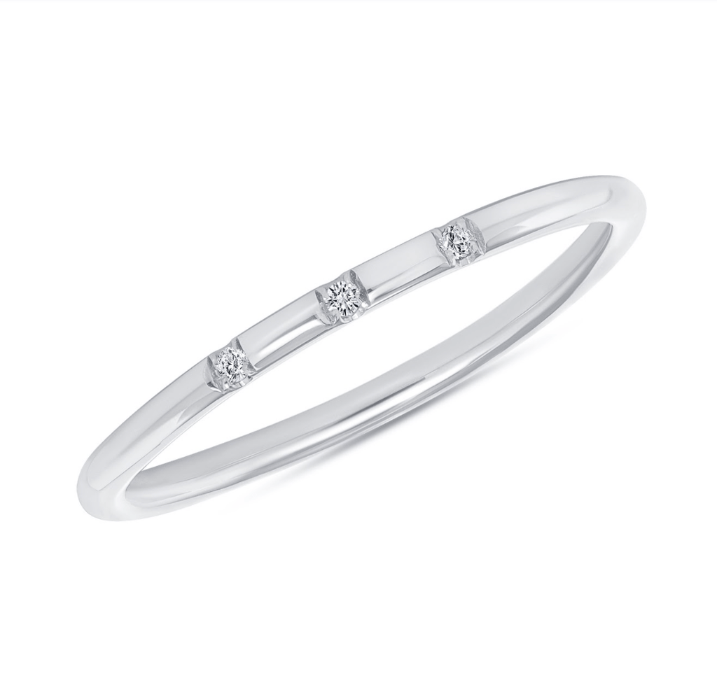 Stella Trio Diamond Band - Happy Jewelers Fine Jewelry Lifetime Warranty