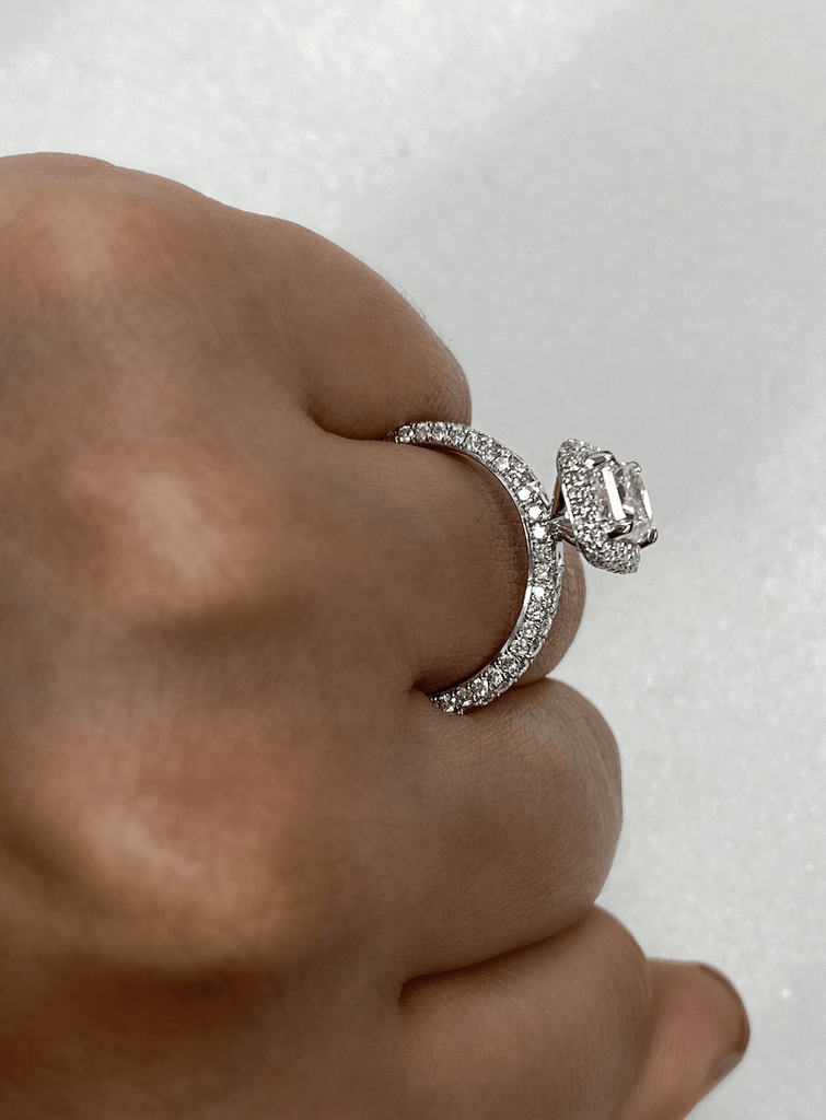1.02 Radiant Engagement Ring | E color VS2 clarity - Happy Jewelers Fine Jewelry Lifetime Warranty