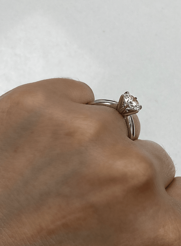1.09 Round Engagement Ring | G color I1 clarity - Happy Jewelers Fine Jewelry Lifetime Warranty