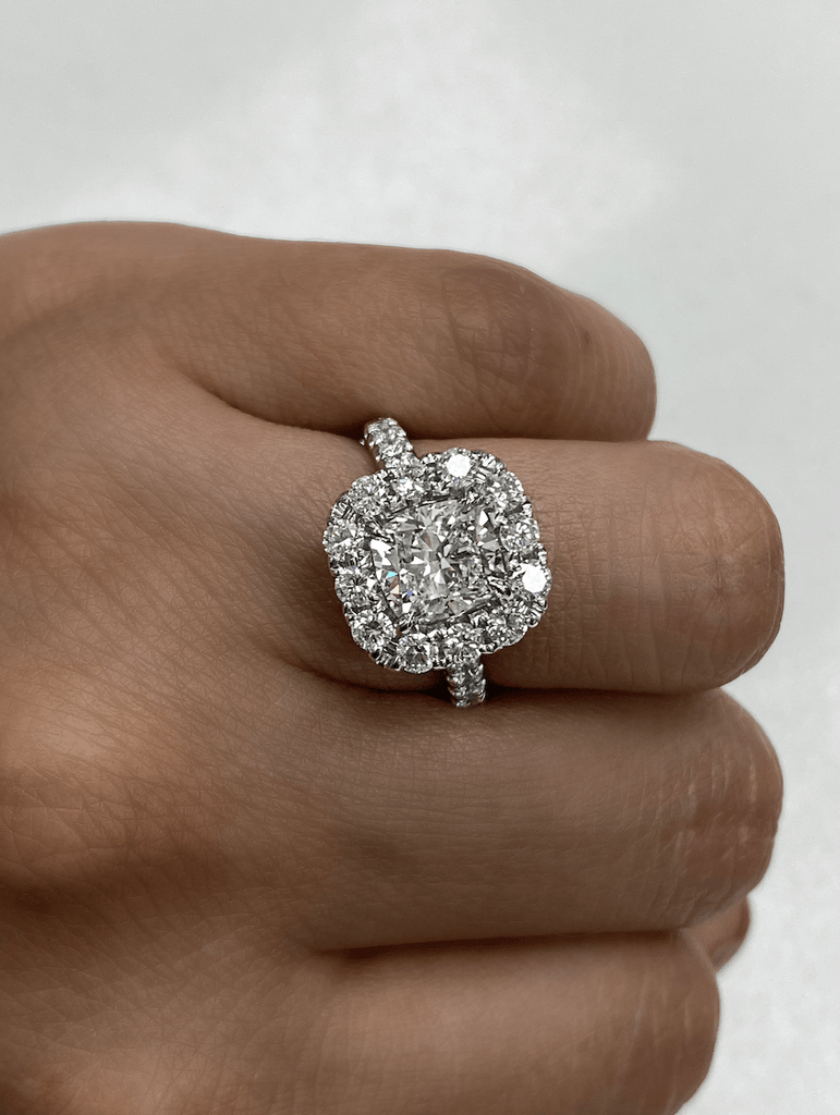 1.70 Cushion Engagement Ring | E color SI1 clarity - Happy Jewelers Fine Jewelry Lifetime Warranty