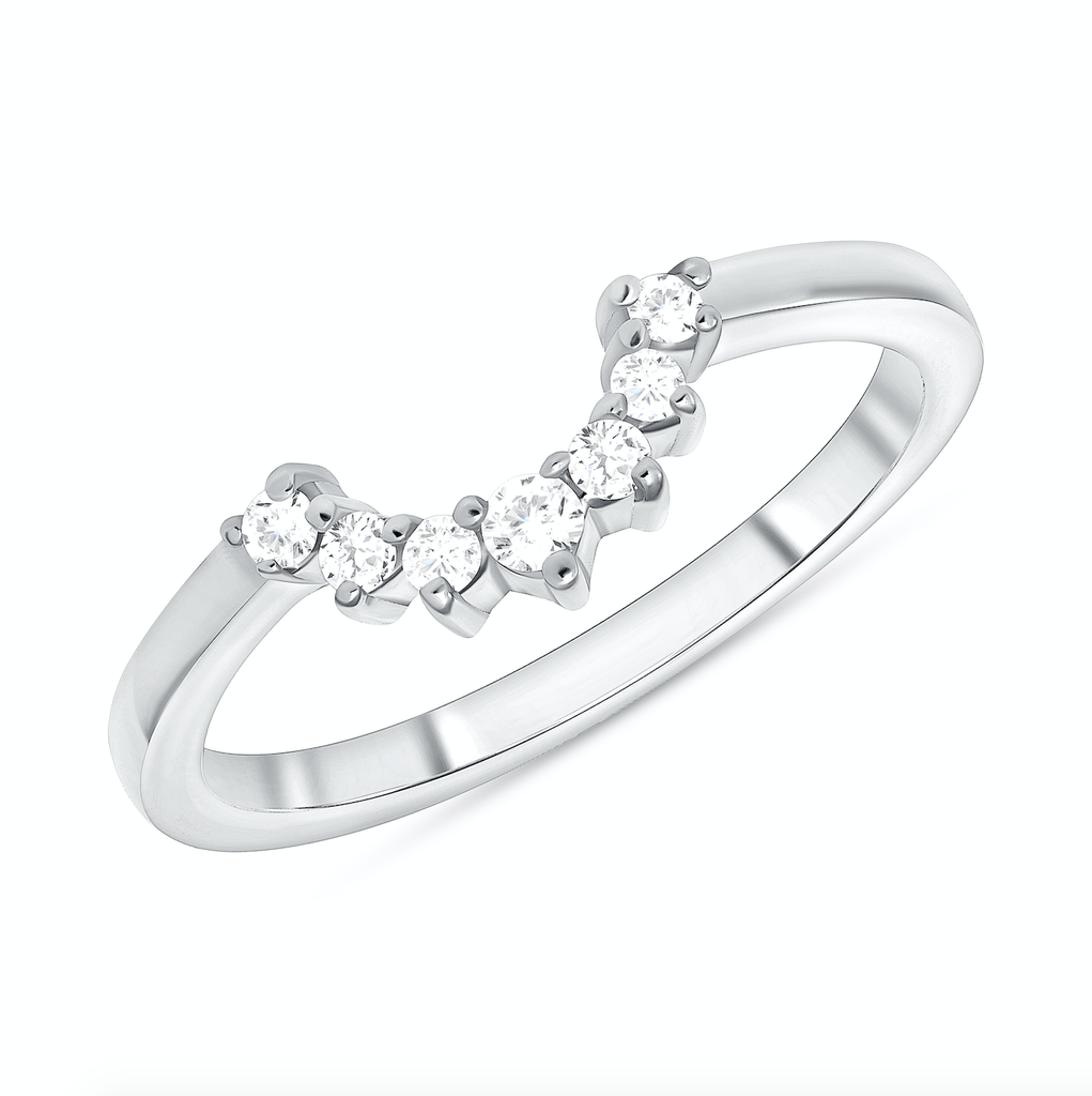 Diamond Curve Around Ring - Happy Jewelers Fine Jewelry Lifetime Warranty