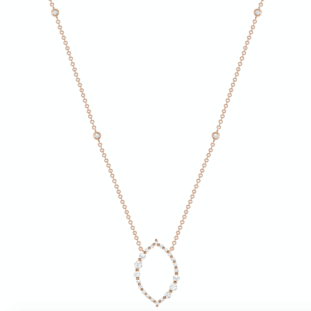 Oval Style Diamond Necklace - Happy Jewelers Fine Jewelry Lifetime Warranty