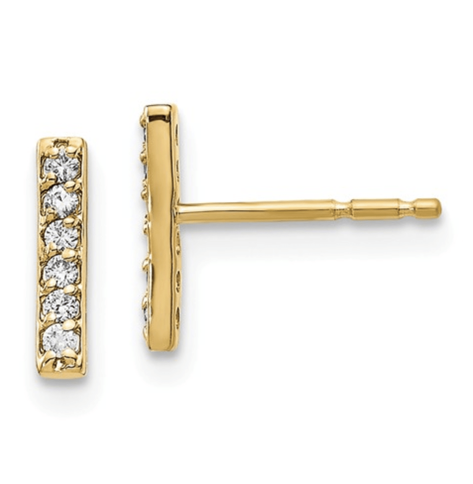 Diamond Bar Earrings - Happy Jewelers Fine Jewelry Lifetime Warranty
