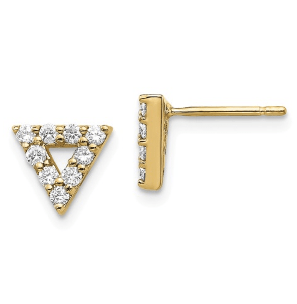 Diamond Triangle Earrings - Happy Jewelers Fine Jewelry Lifetime Warranty