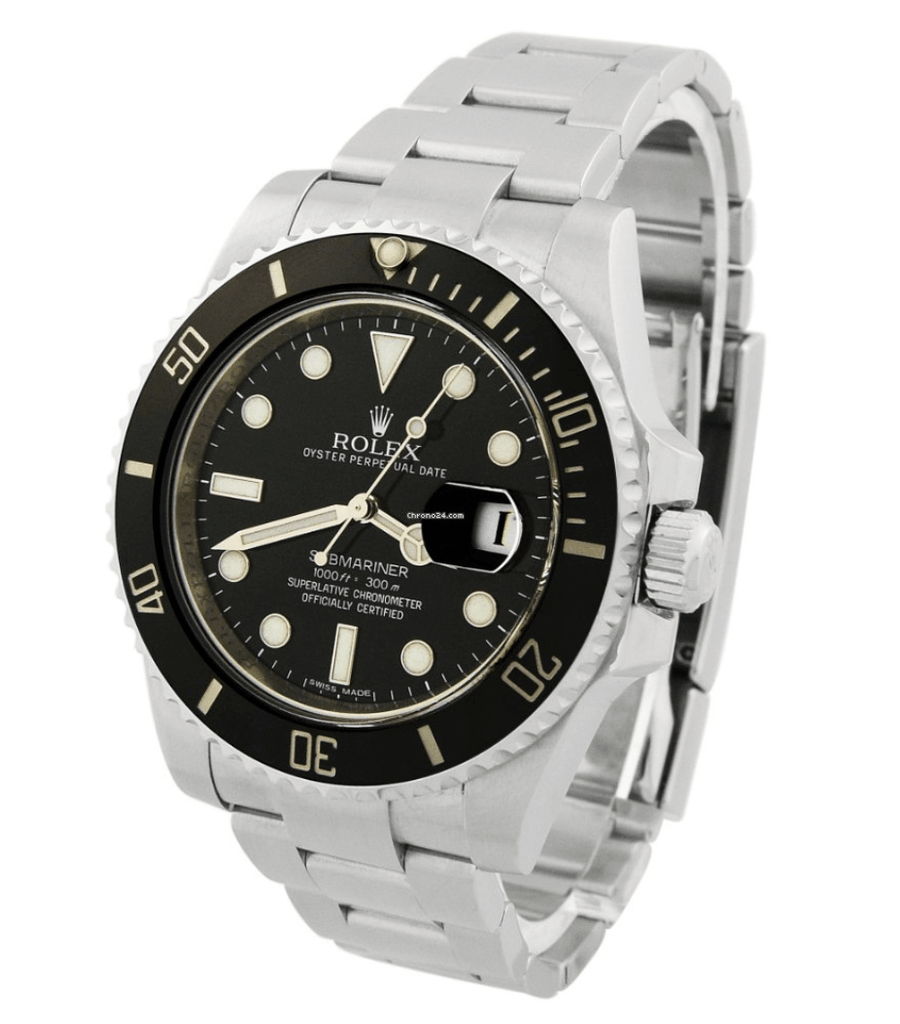 Rolex Men's Submariner Stainless Steel 40mm Black Luminous Dial Watch - Happy Jewelers Fine Jewelry Lifetime Warranty