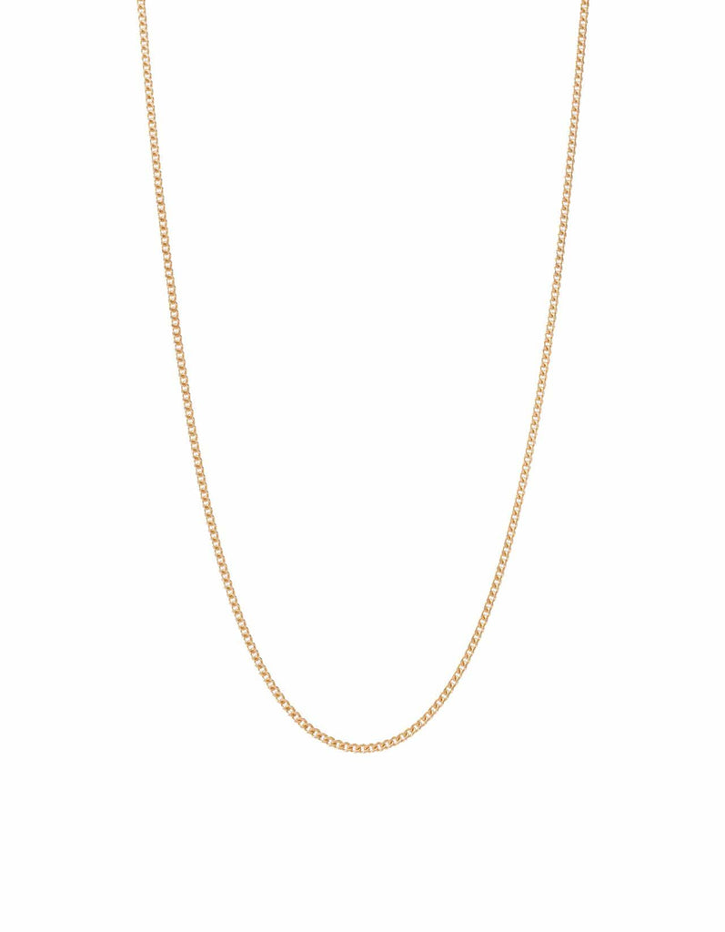 2mm Mini Cuban Chain Necklace - Happy Jewelers Fine Jewelry Lifetime Warranty