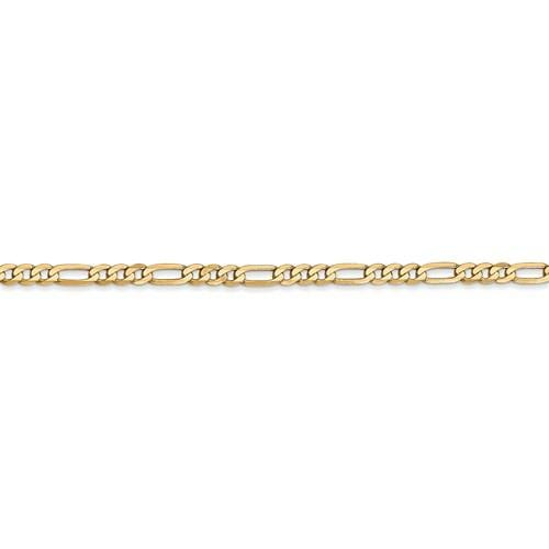 3.00mm Flat Figaro Chain - Happy Jewelers Fine Jewelry Lifetime Warranty