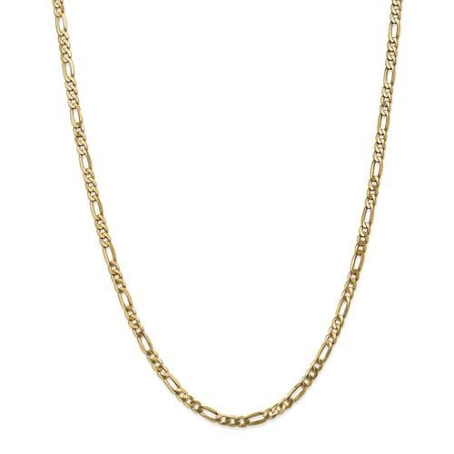 Flat Figaro Chain 4mm - Happy Jewelers Fine Jewelry Lifetime Warranty