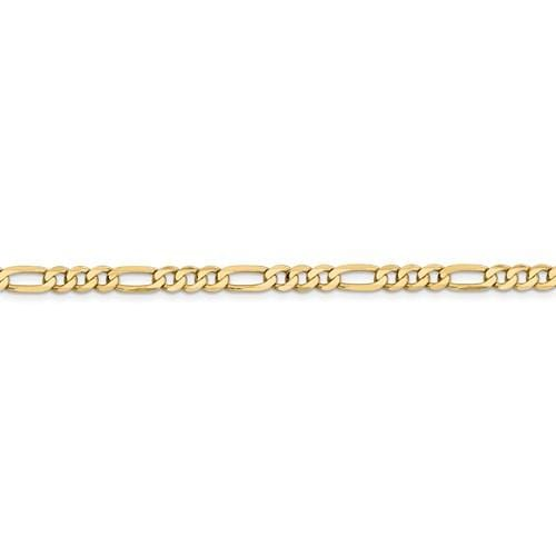 4.75mm Flat Figaro Chain - Happy Jewelers Fine Jewelry Lifetime Warranty